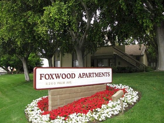 Front Sign - Foxwood Apartments